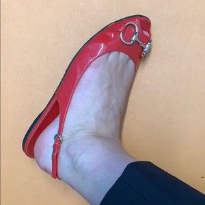Gucci Shoes - Gucci Horsebit Red Patent Leather Sandals
